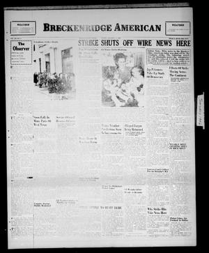 Primary view of object titled 'Breckenridge American (Breckenridge, Tex.), Vol. 26, No. 9, Ed. 1 Friday, January 11, 1946'.