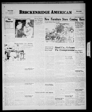 Primary view of object titled 'Breckenridge American (Breckenridge, Tex.), Vol. 26, No. 14, Ed. 1 Friday, January 18, 1946'.
