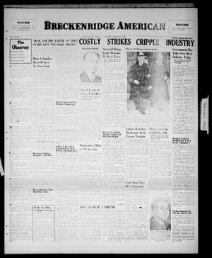 Primary view of object titled 'Breckenridge American (Breckenridge, Tex.), Vol. 26, No. 16, Ed. 1 Tuesday, January 22, 1946'.