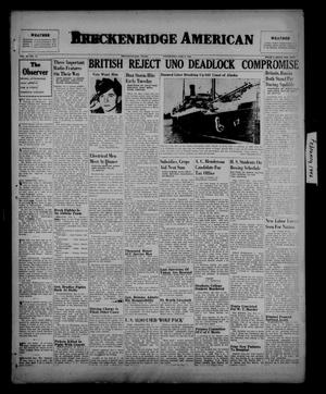 Primary view of object titled 'Breckenridge American (Breckenridge, Tex.), Vol. 26, No. 27, Ed. 1 Wednesday, February 6, 1946'.