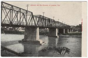 Primary view of object titled '[International Bridge across the Rio Grande]'.