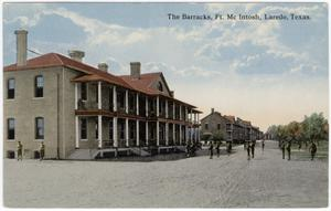 Primary view of object titled '[Barracks at Ft. McIntosh, Laredo, Texas]'.