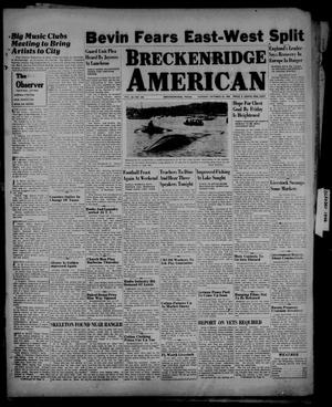 Primary view of object titled 'Breckenridge American (Breckenridge, Tex.), Vol. 26, No. 205, Ed. 1 Tuesday, October 22, 1946'.