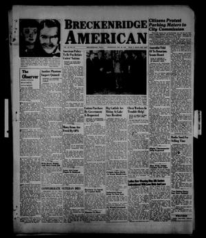 Primary view of object titled 'Breckenridge American (Breckenridge, Tex.), Vol. 26, No. 212, Ed. 1 Wednesday, October 30, 1946'.