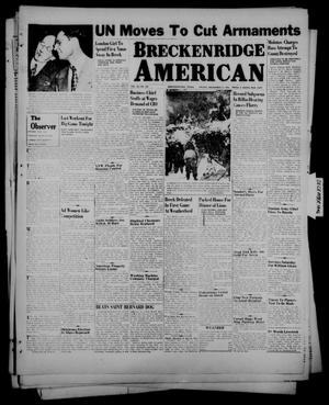 Primary view of object titled 'Breckenridge American (Breckenridge, Tex.), Vol. 26, No. 244, Ed. 1 Friday, December 13, 1946'.