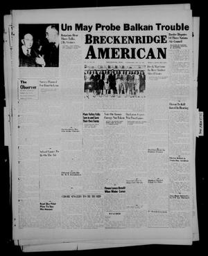 Primary view of object titled 'Breckenridge American (Breckenridge, Tex.), Vol. 26, No. 248, Ed. 1 Wednesday, December 18, 1946'.