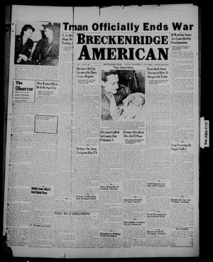 Primary view of object titled 'Breckenridge American (Breckenridge, Tex.), Vol. 26, No. 258, Ed. 1 Tuesday, December 31, 1946'.