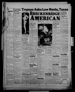 Primary view of object titled 'Breckenridge American (Breckenridge, Tex.), Vol. 27, No. 7, Ed. 1 Wednesday, January 8, 1947'.