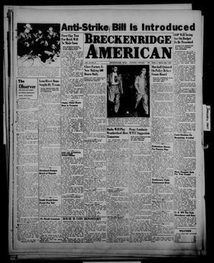 Primary view of object titled 'Breckenridge American (Breckenridge, Tex.), Vol. 27, No. 8, Ed. 1 Thursday, January 9, 1947'.