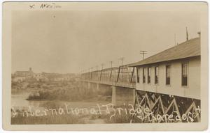 Primary view of object titled '[International Bridge, Laredo, Texas]'.