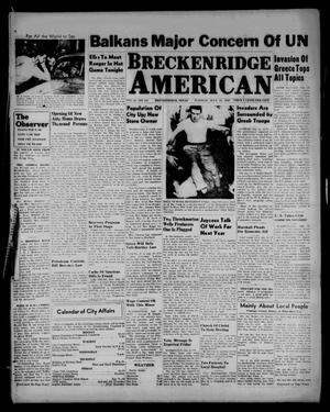Primary view of object titled 'Breckenridge American (Breckenridge, Tex.), Vol. 27, No. 158, Ed. 1 Tuesday, July 15, 1947'.