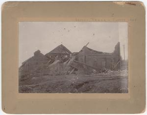 Primary view of object titled '[Buildings destroyed by tornado 1905]'.