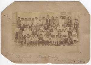 Primary view of object titled '[First grade class, Laredo, Texas, 1893]'.