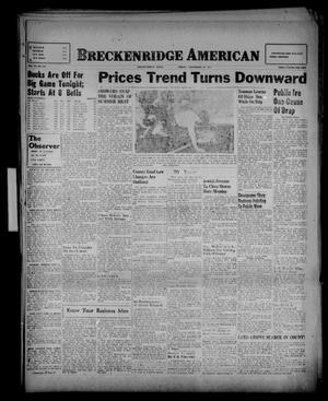 Primary view of object titled 'Breckenridge American (Breckenridge, Tex.), Vol. 27, No. 206, Ed. 1 Friday, September 12, 1947'.