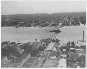 Primary view of object titled '[Bird's Eye view - Rio Grande Flood]'.