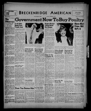 Primary view of object titled 'Breckenridge American (Breckenridge, Tex.), Vol. 27, No. 255, Ed. 1 Sunday, November 9, 1947'.