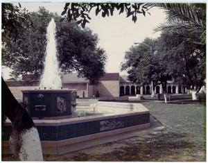 Primary view of object titled '[Bruni Plaza Fountain]'.