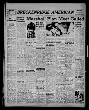 Primary view of object titled 'Breckenridge American (Breckenridge, Tex.), Vol. 27, No. 281, Ed. 1 Friday, December 12, 1947'.