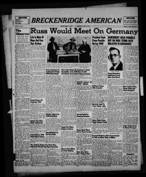 Primary view of object titled 'Breckenridge American (Breckenridge, Tex.), Vol. 27, No. 296, Ed. 1 Wednesday, December 31, 1947'.