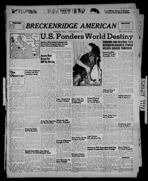 Primary view of object titled 'Breckenridge American (Breckenridge, Tex.), Vol. 28, No. 5, Ed. 1 Tuesday, January 6, 1948'.
