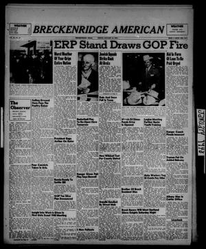 Primary view of object titled 'Breckenridge American (Breckenridge, Tex.), Vol. 28, No. 13, Ed. 1 Friday, January 16, 1948'.