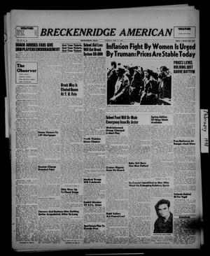 Primary view of object titled 'Breckenridge American (Breckenridge, Tex.), Vol. 28, No. 40, Ed. 1 Tuesday, February 17, 1948'.