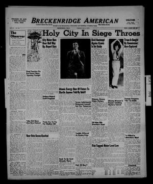Primary view of object titled 'Breckenridge American (Breckenridge, Tex.), Vol. 28, No. 109, Ed. 1 Tuesday, May 18, 1948'.