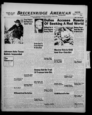 Primary view of object titled 'Breckenridge American (Breckenridge, Tex.), Vol. 28, No. 234, Ed. 1 Tuesday, October 26, 1948'.