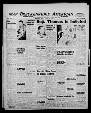 Primary view of object titled 'Breckenridge American (Breckenridge, Tex.), Vol. 28, No. 245, Ed. 1 Monday, November 8, 1948'.
