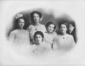 Primary view of object titled '[Five young women]'.