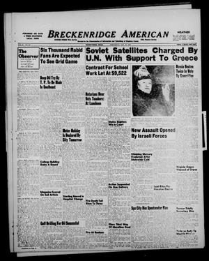 Primary view of object titled 'Breckenridge American (Breckenridge, Tex.), Vol. 28, No. 247, Ed. 1 Wednesday, November 10, 1948'.
