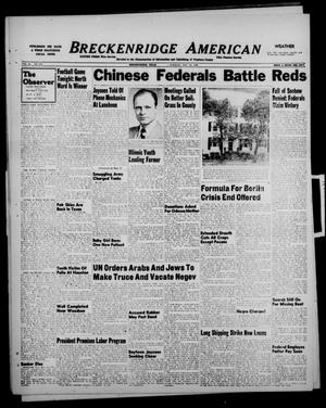 Primary view of object titled 'Breckenridge American (Breckenridge, Tex.), Vol. 28, No. 252, Ed. 1 Tuesday, November 16, 1948'.
