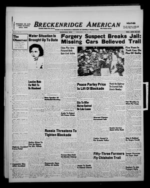 Primary view of object titled 'Breckenridge American (Breckenridge, Tex.), Vol. 28, No. 253, Ed. 1 Wednesday, November 17, 1948'.