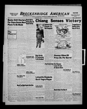 Breckenridge American (Breckenridge, Tex.), Vol. 28, No. 259, Ed. 1 Wednesday, November 24, 1948