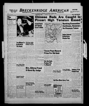 Primary view of object titled 'Breckenridge American (Breckenridge, Tex.), Vol. 28, No. 265, Ed. 1 Thursday, December 2, 1948'.