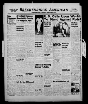 Primary view of object titled 'Breckenridge American (Breckenridge, Tex.), Vol. 28, No. 269, Ed. 1 Tuesday, December 7, 1948'.