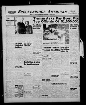 Primary view of object titled 'Breckenridge American (Breckenridge, Tex.), Vol. 28, No. 274, Ed. 1 Monday, December 13, 1948'.