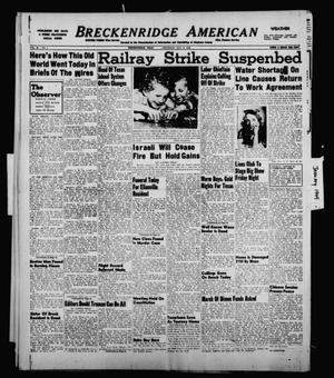 Primary view of object titled 'Breckenridge American (Breckenridge, Tex.), Vol. 29, No. 5, Ed. 1 Thursday, January 6, 1949'.