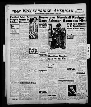 Primary view of object titled 'Breckenridge American (Breckenridge, Tex.), Vol. 29, No. 6, Ed. 1 Friday, January 7, 1949'.
