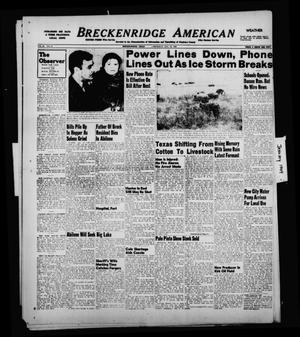 Primary view of object titled 'Breckenridge American (Breckenridge, Tex.), Vol. 29, No. 11, Ed. 1 Thursday, January 13, 1949'.