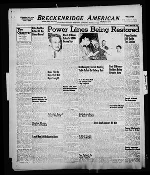 Primary view of object titled 'Breckenridge American (Breckenridge, Tex.), Vol. 29, No. 12, Ed. 1 Friday, January 14, 1949'.