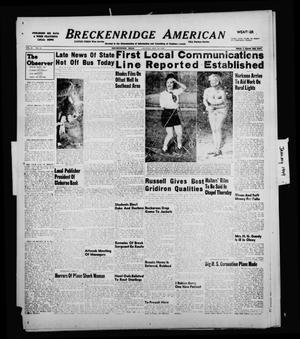 Primary view of object titled 'Breckenridge American (Breckenridge, Tex.), Vol. 29, No. 13, Ed. 1 Sunday, January 16, 1949'.