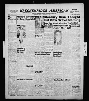 Primary view of object titled 'Breckenridge American (Breckenridge, Tex.), Vol. 29, No. 15, Ed. 1 Tuesday, January 18, 1949'.