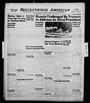 Primary view of object titled 'Breckenridge American (Breckenridge, Tex.), Vol. 29, No. 17, Ed. 1 Thursday, January 20, 1949'.