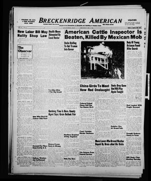 Primary view of object titled 'Breckenridge American (Breckenridge, Tex.), Vol. 29, No. 28, Ed. 1 Wednesday, February 2, 1949'.