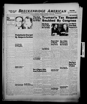 Primary view of object titled 'Breckenridge American (Breckenridge, Tex.), Vol. 29, No. 36, Ed. 1 Friday, February 11, 1949'.