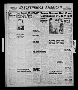Primary view of object titled 'Breckenridge American (Breckenridge, Tex.), Vol. 29, No. 49, Ed. 1 Tuesday, March 29, 1949'.