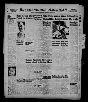 Primary view of object titled 'Breckenridge American (Breckenridge, Tex.), Vol. 29, No. 146, Ed. 1 Wednesday, July 20, 1949'.