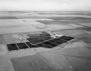 Primary view of object titled '[Aerial Photograph of Feed Yards in Deaf Smith County]'.