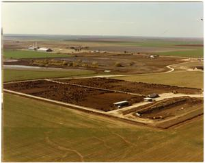 Primary view of object titled '[Aerial Photograph of Fields and Feed Yards]'.